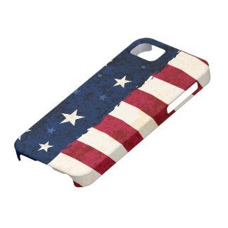 Caso patriótico del iPhone 5 de las estrellas y de iPhone 5 Case-Mate Cárcasas
