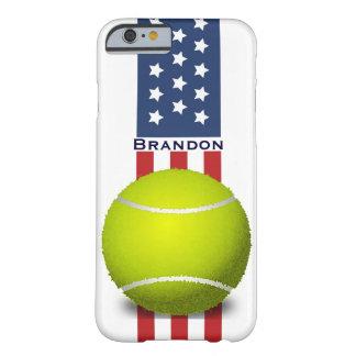 Caso patriótico del iPhone 6 del diseño del tenis Funda Para iPhone 6 Barely There
