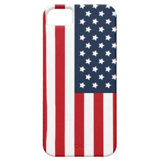 Caso patriótico del iPhone de la bandera americana iPhone 5 Funda