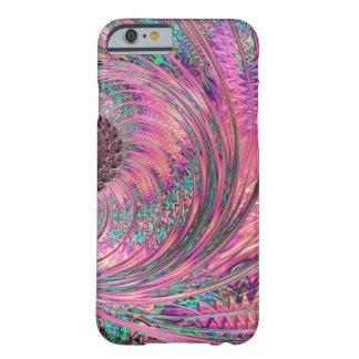 Caso Pecock rosado abstracto de Iphone 6 Funda De iPhone 6 Barely There