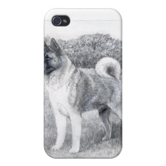 caso pedigrí Akita del iPhone del perro iPhone 4 Cárcasas