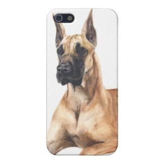 caso pedigrí great dane del iPhone del perro iPhone 5 Fundas