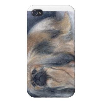 caso pedigrí Pekingese del iPhone del perro iPhone 4 Cobertura