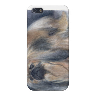 caso pedigrí Pekingese del iPhone del perro iPhone 5 Carcasas