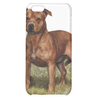 caso pedigrí Pitbull del iPhone del perro
