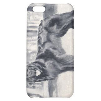 caso pedigrí Terranova del iPhone del perro