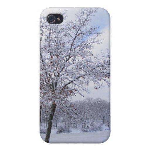 Caso pegajoso del ~ de la nieve 24 iPhone 4 funda