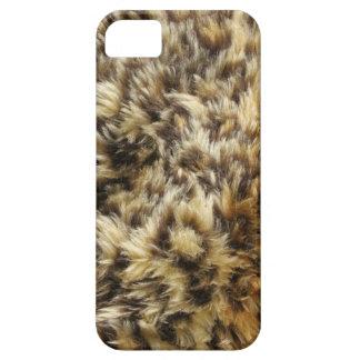 Caso peludo del iPhone 5/5S del estampado leopardo iPhone 5 Carcasa