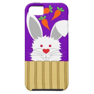 Caso peludo del iPhone del conejo Funda Para iPhone 5 Tough
