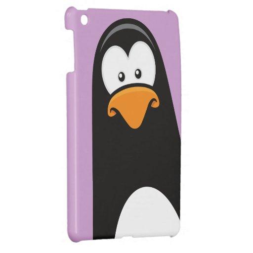 Caso pensativo del dibujo animado del pingüino iPad mini protector