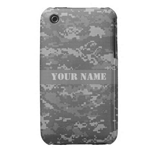 Caso personalizado del iPhone 3 del camuflaje del  iPhone 3 Case-Mate Carcasas