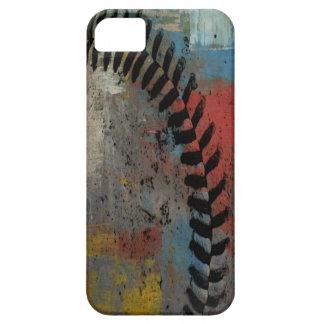 caso pintado del béisbol para el iphone iPhone 5 protector