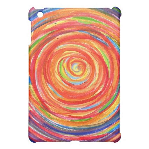 Caso pintado del iPad del círculo