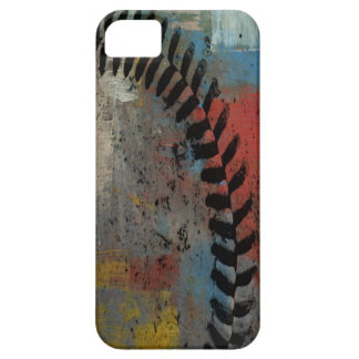 caso pintado del iphone del béisbol funda para iPhone 5 barely there