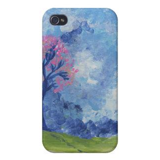 Caso pintado paisaje azul alegre de Iphone de la e iPhone 4 Carcasa