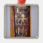 Caso pintado y dorado de la momia de Artemidorus Adorno Navideño Cuadrado De Metal