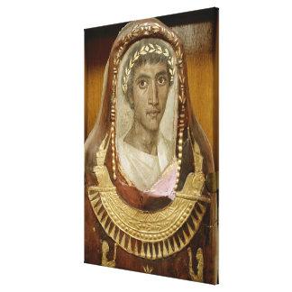 Caso pintado y dorado de la momia de Artemidorus Lienzo Envuelto Para Galerías