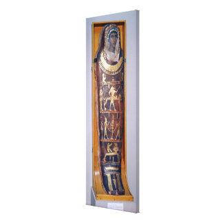 Caso pintado y dorado de la momia de Artemidorus Impresion De Lienzo