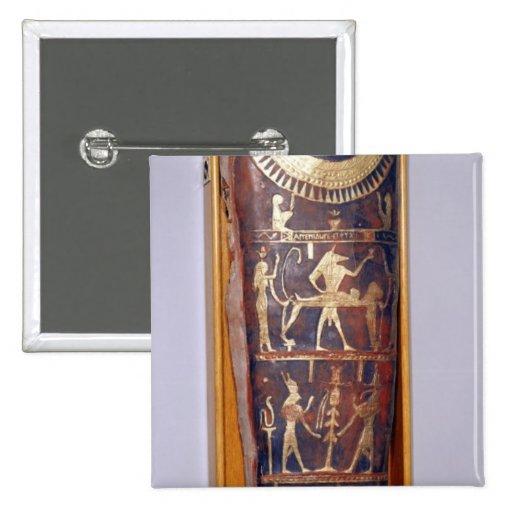 Caso pintado y dorado de la momia de Artemidorus Pin Cuadrado