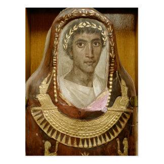 Caso pintado y dorado de la momia de Artemidorus Tarjeta Postal