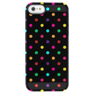 caso Polkadots del iPhone 5/5s Funda Clearly™ Deflector Para iPhone 5 De Uncommon