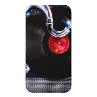 Caso portátil del iPhone del fonógrafo iPhone 4 Carcasa