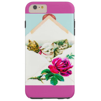CASO PRECIOSO DEL GATITO IPHONE6 FUNDA DE iPhone 6 PLUS TOUGH
