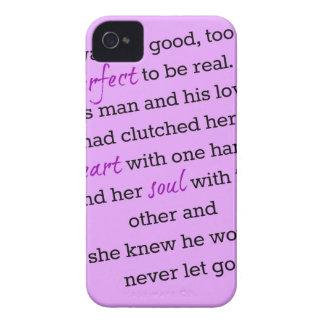 Caso precioso del iPhone 5 de la cita del abrazo iPhone 4 Protectores