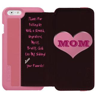 Caso preferido del iPhone 6 de la mamá Funda Cartera Para iPhone 6 Watson