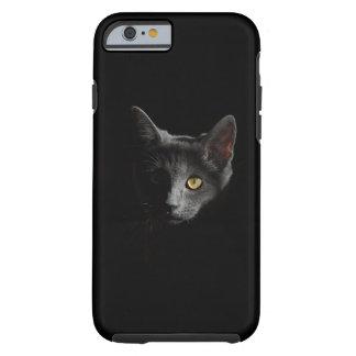 Caso provocado del iphone del gato negro funda de iPhone 6 tough