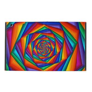 Caso psicodélico del iPad 2/3/4 del espiral del
