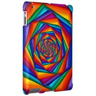 Caso psicodélico del iPad del espiral del arco Funda Para iPad