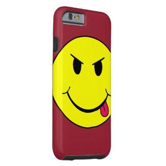 Caso punky de Iphone 6 de la cara sonriente mala Funda Para iPhone 6 Tough