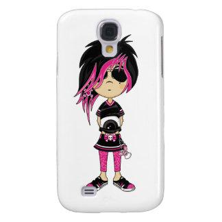 Caso punky del iphone 3G del chica de Emo