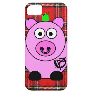 Caso punky del iPhone 5/5s del tartán del cerdo iPhone 5 Funda