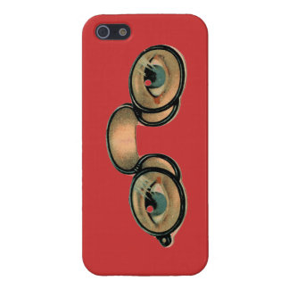 Caso punky del iphone de las lentes del vapor iPhone 5 funda