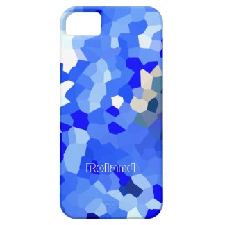 Caso punteado azul del iphone 5 para Roland Funda Para iPhone SE/5/5s