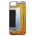 caso quebrado del iPhone de la placa de circuito