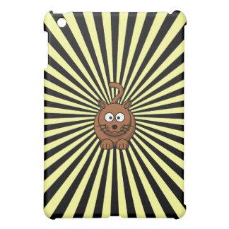 Caso rayado adaptable del iPad del dibujo animado
