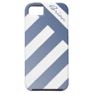 Caso rayado de encargo de Iphone de los azules iPhone 5 Carcasa