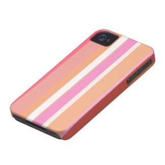 Caso rayado del color iPhone 4 cárcasa