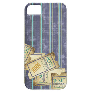 Caso rayado del iPhone 5 de los boletos iPhone 5 Funda