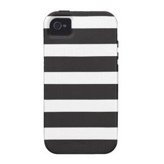 Caso rayado del iPhone iPhone 4 Funda