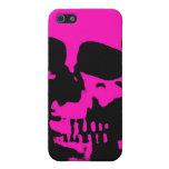 Caso razberry del iphone del cráneo de la moda neg iPhone 5 protector