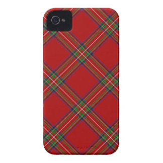 Caso real 4 \ 4s del iPhone del tartán de Stewart iPhone 4 Case-Mate Protectores