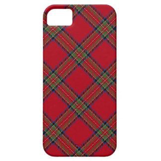 Caso real del iPhone 5 de la tela escocesa de iPhone 5 Carcasas