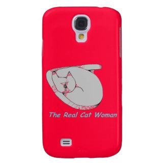 Caso real del iphone de la mujer del gato funda para galaxy s4