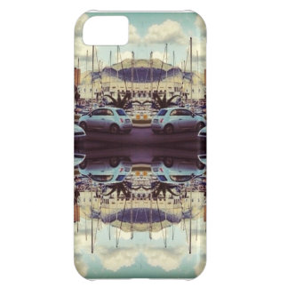 Caso reflexivo Trippy del iphone 5 del coche del v Funda Para iPhone 5C