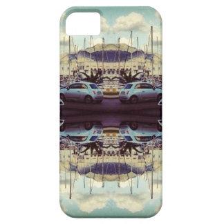 Caso reflexivo Trippy del iphone 5 del coche del v iPhone 5 Case-Mate Cárcasas