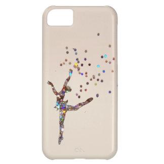 Caso reluciente del bailarín funda para iPhone 5C
